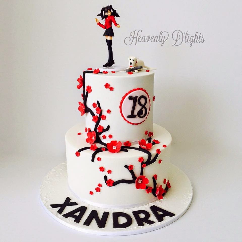 Heavenly Dlights Japanese Theme Cake For Xandras 18th Birthday