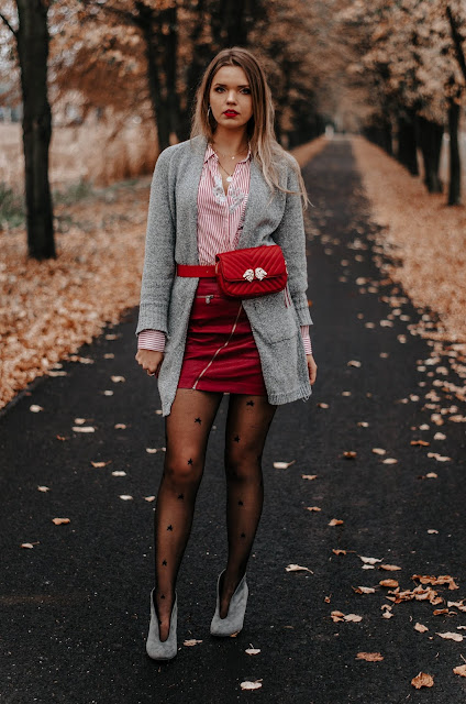 The world is my runway.: Grey &red