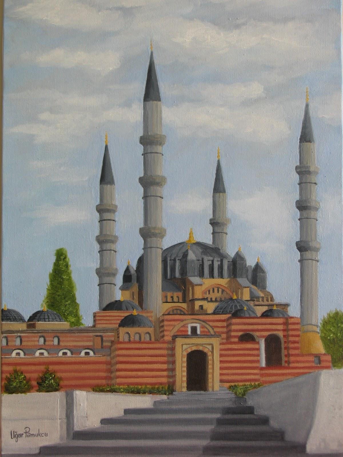 Sanatsal Etkinliklerim Edirne Selimiye Camii Yagli Boya
