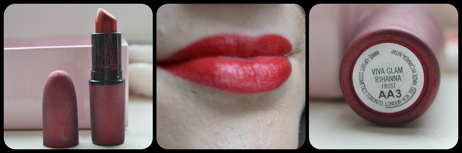 Mac, Cosmetics, Lipstick, Lippenstift, Swatch, Viva Glam Rihanna I, Lipswatch, Swatches, Frost