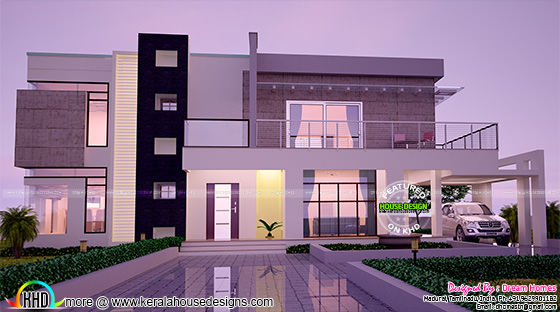 January 2016 kerala home design and floor plans for Front view house plans