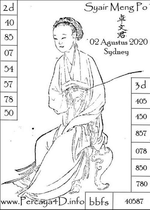 Kode syair Sydney Minggu 2 Agustus 2020 102