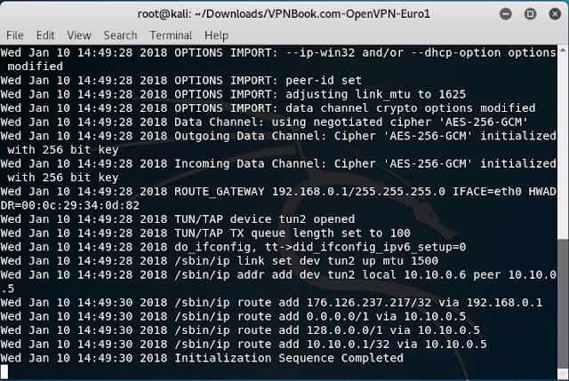 VPN free attivata