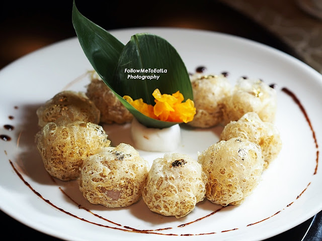 Deep Fried Durian With Yam Puff