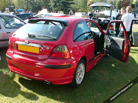 MG Rover 25 1.4 Rear Corner View Solar Red Modified ZR Bodykit