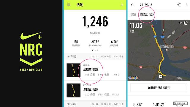 【運動手札】Nike+ Run Club & 我的路跑紀錄 - APP 畫面