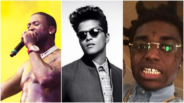 Gucci Mane, Bruno Mars & Kodak Black