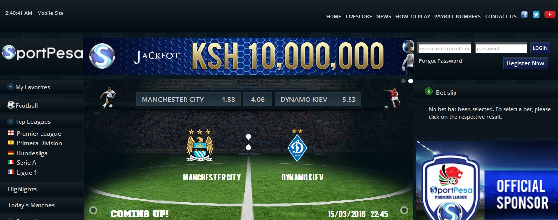 how to bet sportpesa