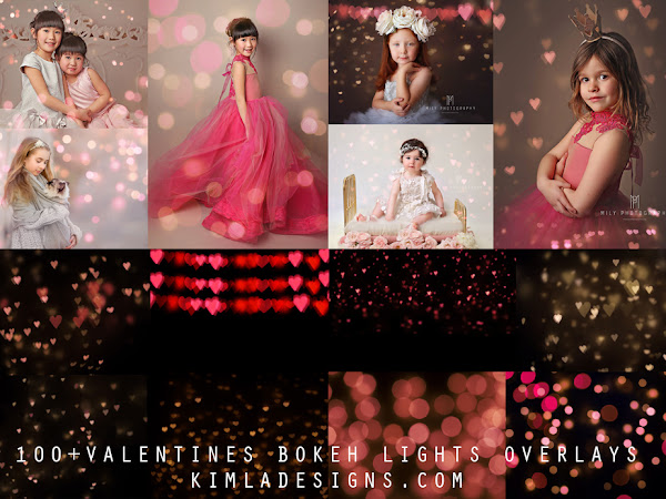 100+ Valentines Bokeh Photo Overlays + 2 Free Gifts