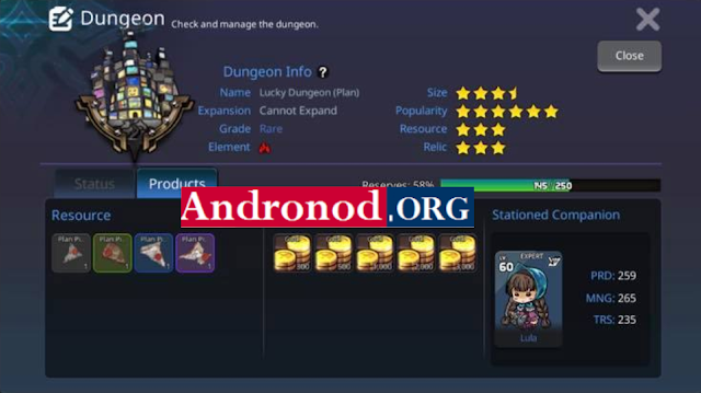Lord Of Dungeons v1.00.01 Mod Menu Apk Terbaru