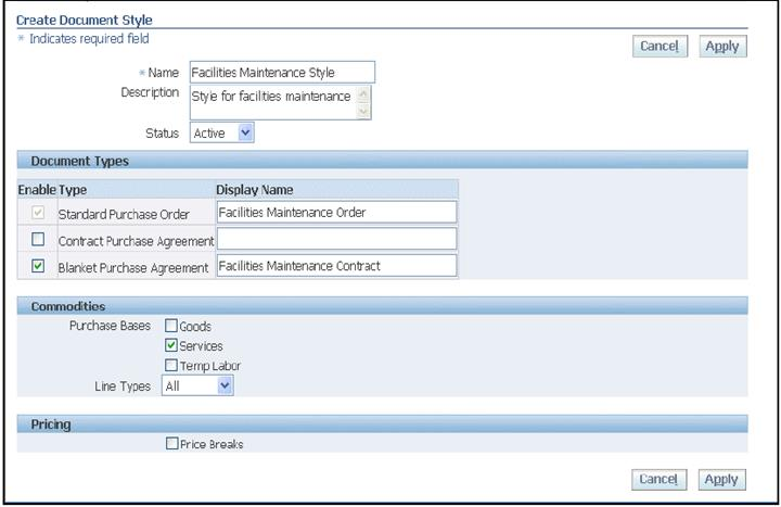 Oracle Applications Oracle Purchasing R12 New Features - blanket purchase agreement