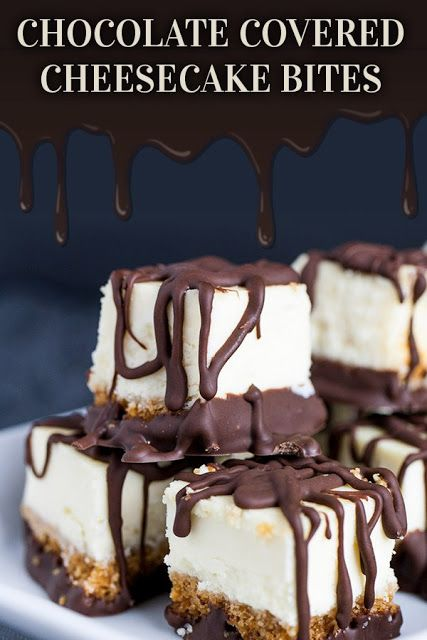 Chocolate Covered Cheesecake Bites Recipe