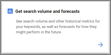 search volume forcast