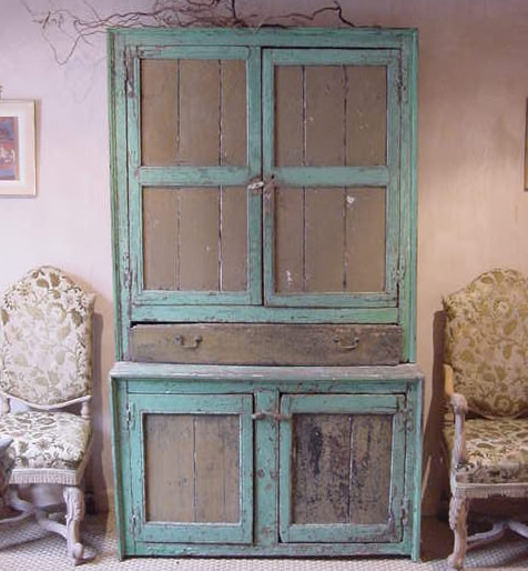 Rustic Antique White Kitchen Cabinets: Heir And Space: Cupboards For The Kitchen