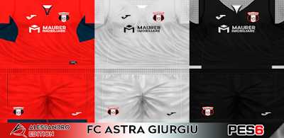 PES 6 Kits Astra Giurgiu Season 2017/2018 by Alessandro Edition