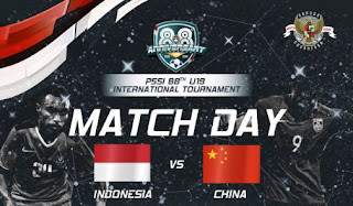 Jadwal Timnas Indonesia U-19 vs China - Selasa 25 September 2018