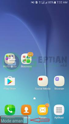masuk ke mode aman android samsung j5