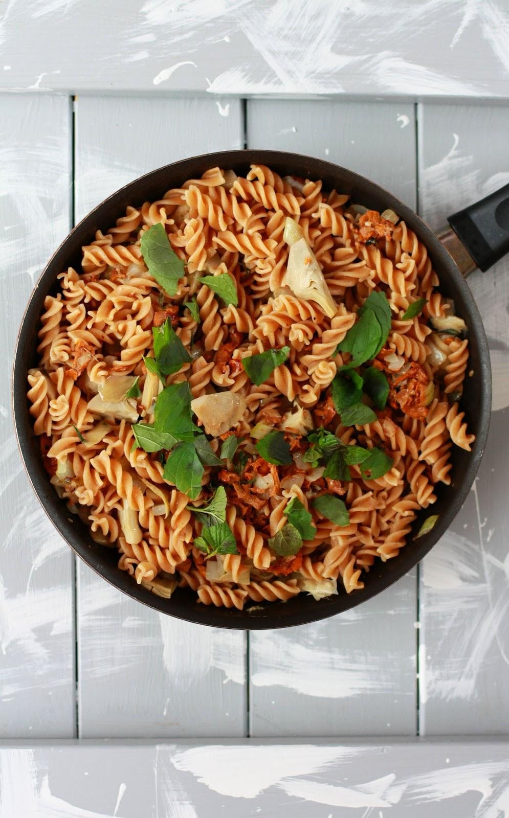 kantarelli-artisokkapasta resepti mallaspulla sieni