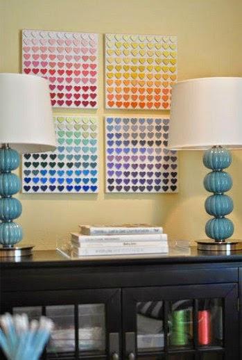 Cuadros de colores para decorar la sala portal de - Como hacer cuadros faciles en casa ...