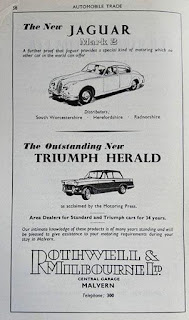Rothwell & Milbourne Ltd advert in the Malvern Official Guide 1960