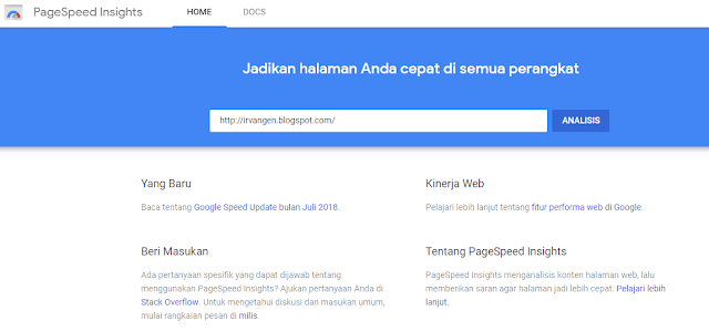 cara menggunakan google pagespeed insight - #irvangen
