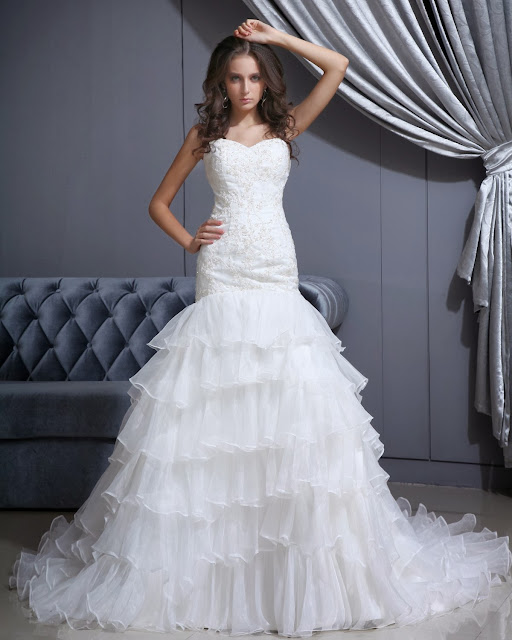 cheap modern wedding dress