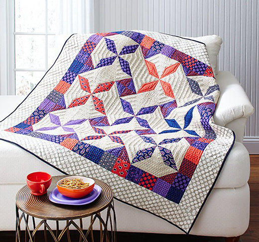 Girly Swirls Quilt Free Pattern