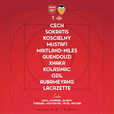 arsenal-vs-valencia-confirmed-starting-lineup-europa-league