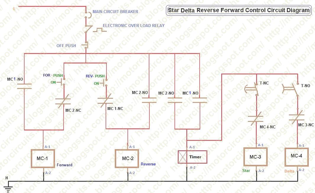 Motor circuits motor control circuit diagrams star delta forward reverse control ccuart Image collections