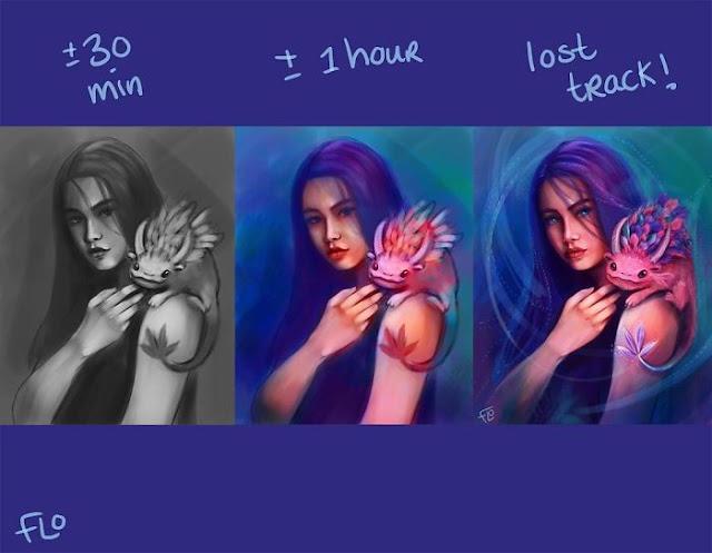 artista-muestra-cuánto-tarda-en-perfeccionar-sus-ilustraciones