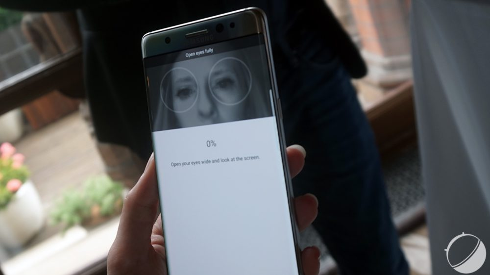 Cap on biometrics and security Galaxy Note 7