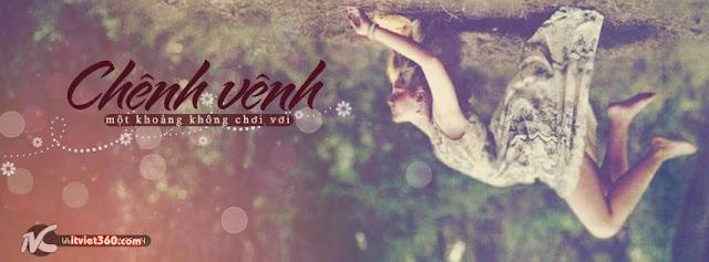 ảnh bìa Facebook đẹp nhất, cover FB cô gái chênh vênh