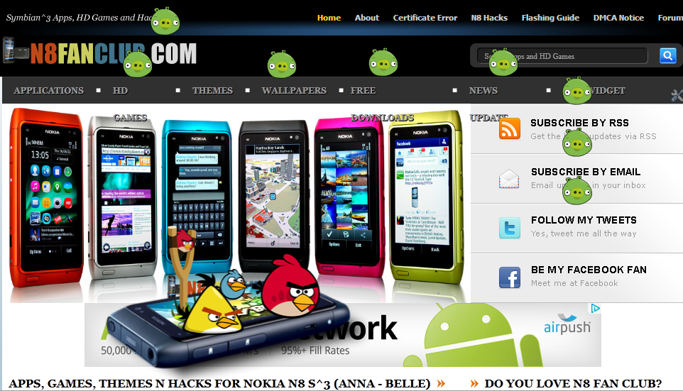 Angry Birds and Fruit Ninja - Play Online on Nokia N8 Fan Club