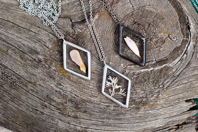 vintage-style pendants by Stanislava Korobkova