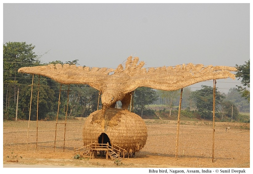 A Bihu straw sculpture, Nagaon, Assam, India - Images by Sunil Deepak