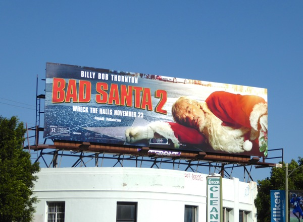 Bad Santa 2 movie billboard