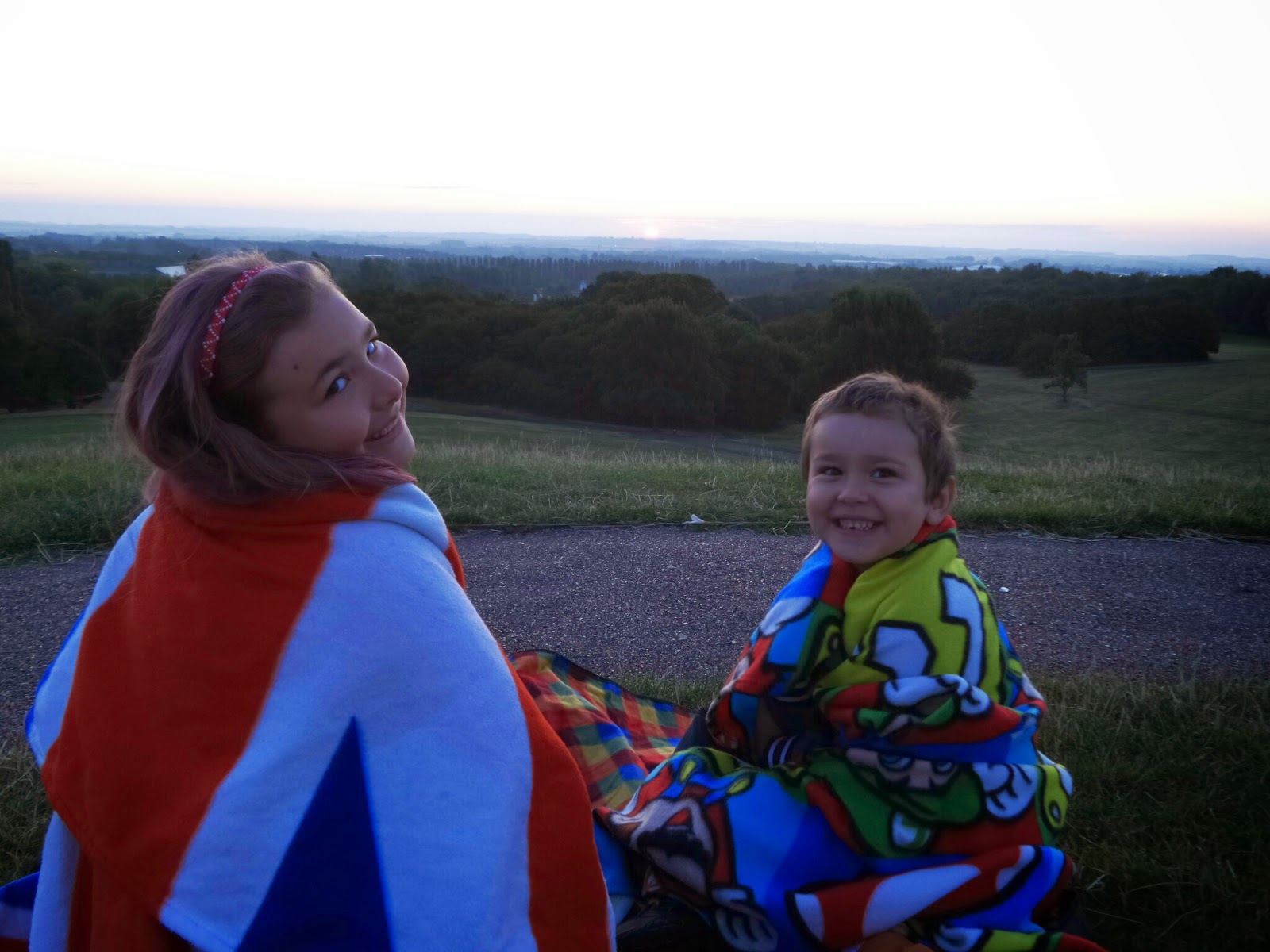 Big Boy and Top Ender watching the Sunrise in Milton Keynes