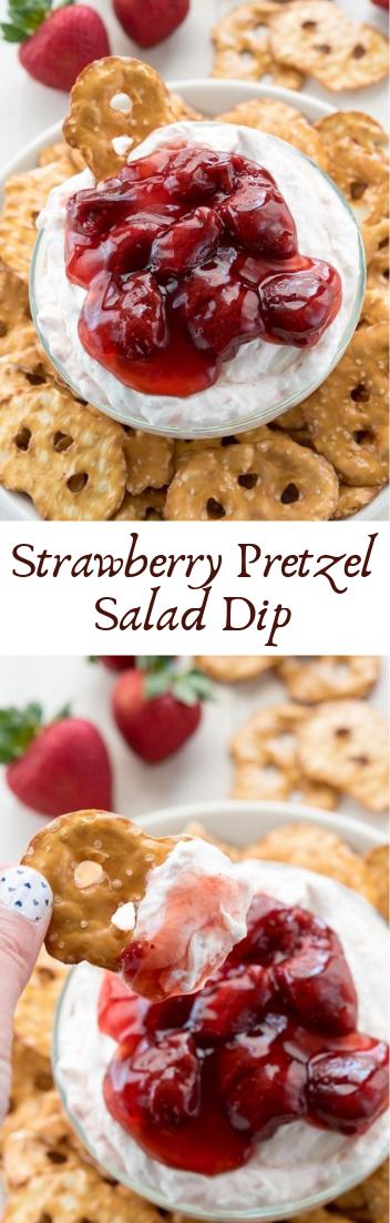 Strawberry Pretzel Salad Dip #desserts #cakerecipe