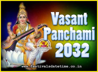 2032 Vasant Panchami Puja Date & Time, 2032 Vasant Panchami Calendar