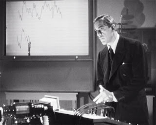 Boris Karloff as Dr. Julian Blair - The Devil Commands (1941)