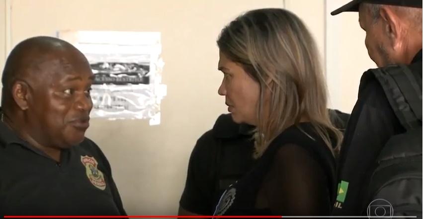 Bom Dia Brasil mostra prisão de Rosângela Curado em Operação da Polícia Federal no Maranhão.