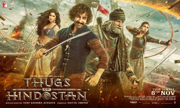 Amitabh Bachchan, Aamir Khan, Fatima Shaikh film Thugs of Hindostan hit film of Highest Grossing 2018, Now in top Position