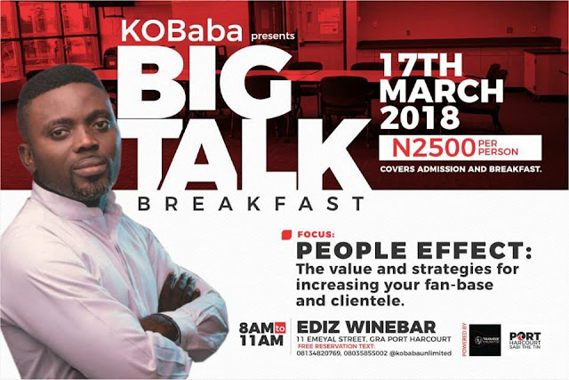 Plan to attend 'Big Talk Breakfast' with KO Baba