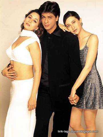Shahrukh Khan, Madhuri Dixit, Karishma Kapoor.
