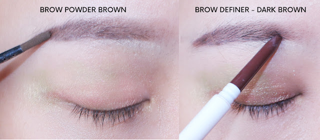 BLP Beauty Brow Definer & Brow Powder Review and swatch