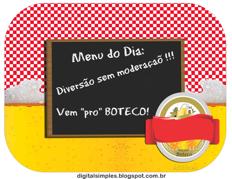 "Aparador Blanco Ikea Segunda Mano ~ Kit Personalizado""Boteco"" Xadrez Vermelho Convites Digitais Simples"