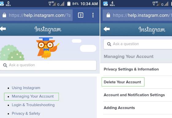 How to Deactivate Instagram 2017