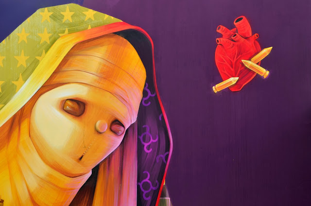 Street Art By Chilean Artist INTI For Los Muros Hablan '13 In San Juan, Puerto Rico. 5