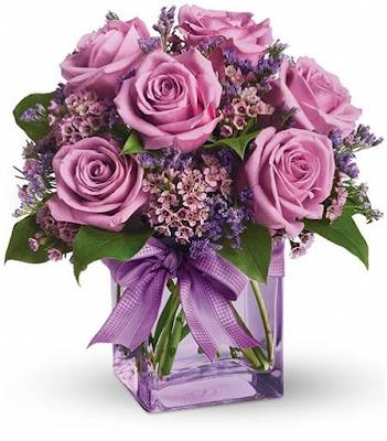 hoa sinh nhật màu tím đẹp nhất