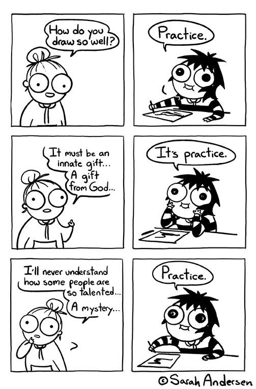 Just keep on Practicing! - Mythgyaan